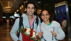 Tarek Momen arrives for PSA Men's World Championship